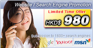 Submission to 1600+ search engines Limited Time Offer HKD$980